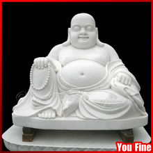 Outdoor Marble Carved Tibetan Buddha Statue