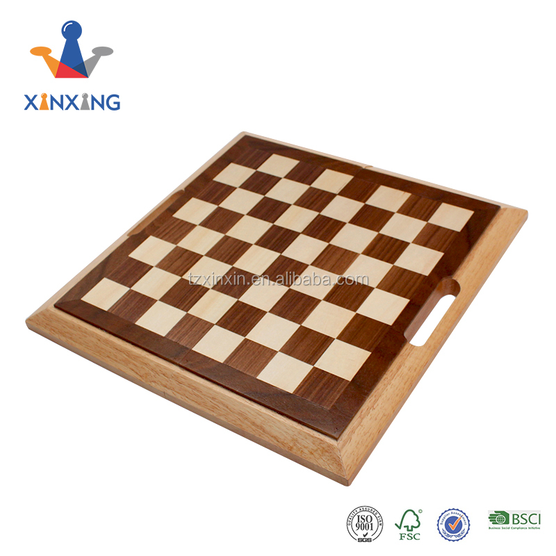 luxury 3 in 1 wooden backgammon chess set and checkers game set Folding chess box multi-function board game with handle