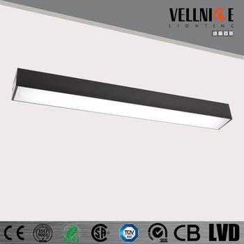 Black 28w led linear light surface mounted ceiling light fittings black 28w led linear light surface mounted ceiling light fittings 220 240v input office light aloadofball Choice Image