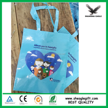 Tote fabric fashionable waterproof promotional pp bag woven