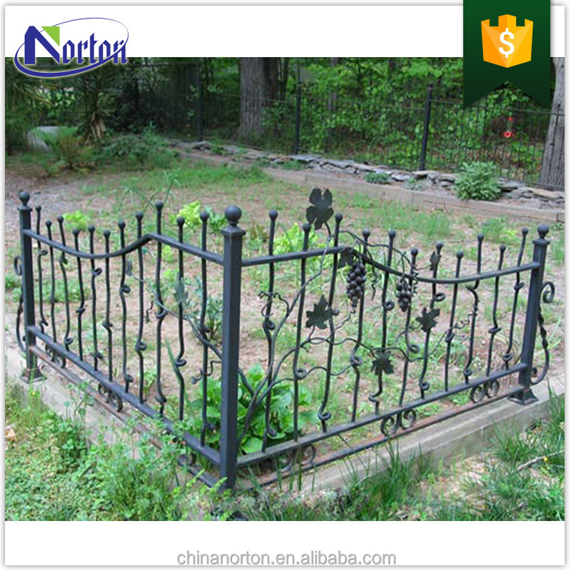 Modern simple design small orchard use iron art fence NTIF-011Y