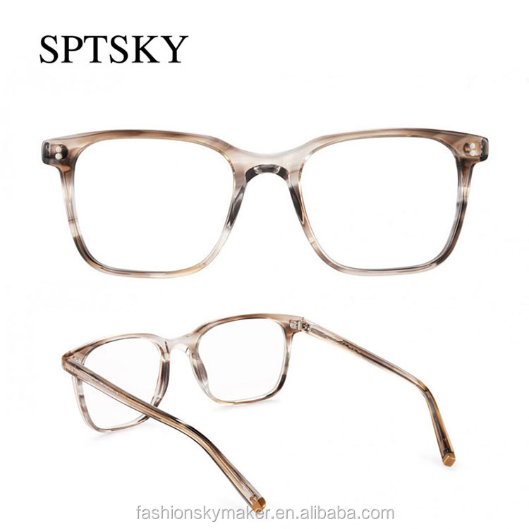 Fashion cool transparent acetate reading eyeglasses glasses.