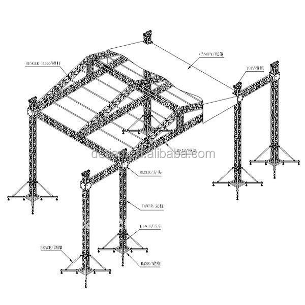 lighting aluminum lift elevator truss system