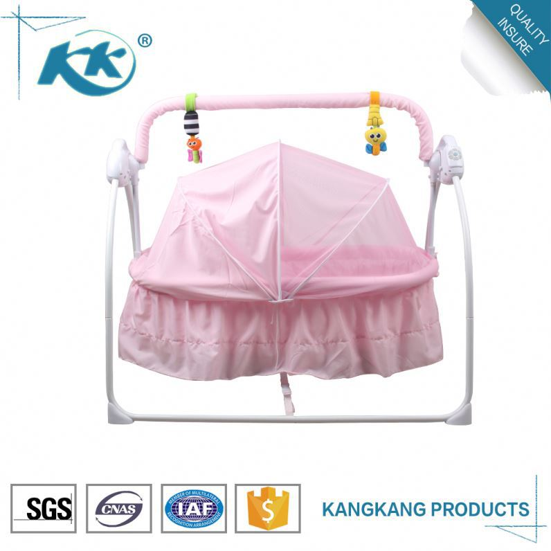 Most popular lower price portable swing cot new born round crib bedding