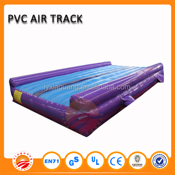 PVC jumping mat purple inflatable airtrack factory slip and slide