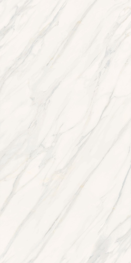 White faux calacatta marble slab 5mm thick look porcelain tile
