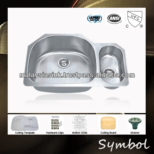 "Stainless Steel 32"" Undermount Brushed Kitchen Sinks Prices"