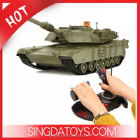 Hot Sale!2074s M1A2 42cm Large 1 14 Scale Hand lever Model RC Tank