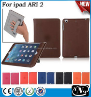 for new kindle case with metal frame, for ipad air2 case with hand held card slot bracket design