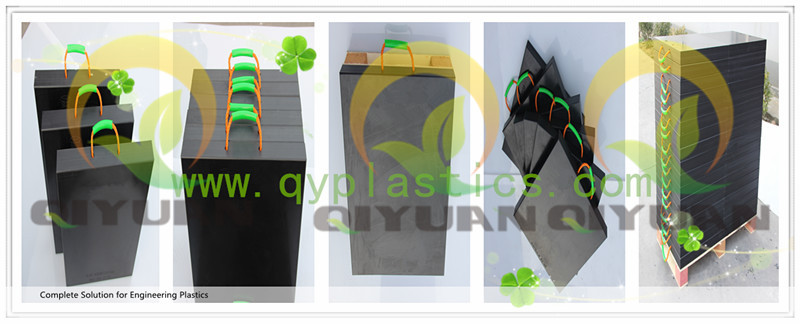 Anti slip square uhmwpe outrigger pads for mobile crane