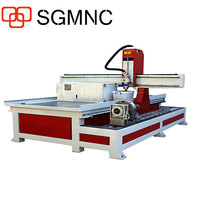 4 axis wood cylinder 3D carving machine /1325 cnc router with rotary axis