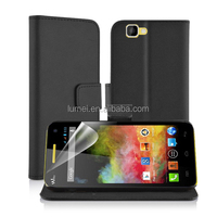 Popular Pocket With Card Slots PU Cover For Wiko Rainbow