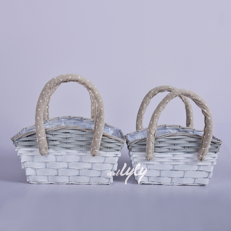 willow planters with liners garden decoration