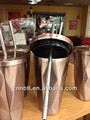 Stainless steel cup plus straw