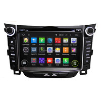 Double Din DVD GPS for dashboard Hyundai i30 with HD display bluetooth Ipod USB/SD Radio TV Rear camera