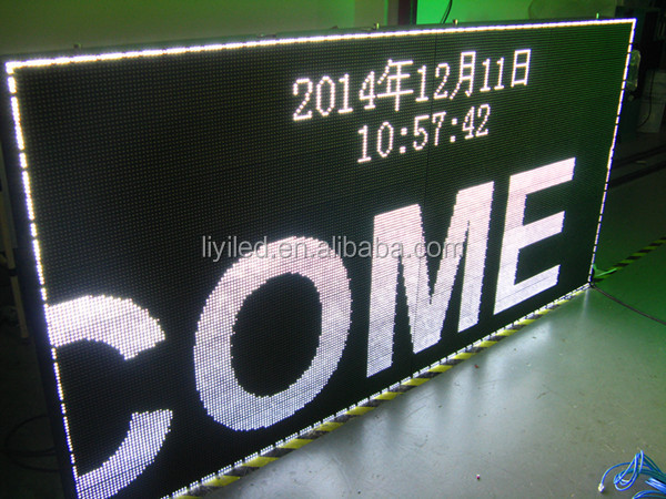 white color video xxx p10 led display price outdoor IP65 CE proved