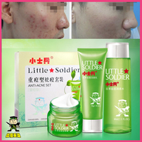 Remove acne pimples cream for men anti-acne treatment sets with spot cleanser detox liquid and strength cream OEM