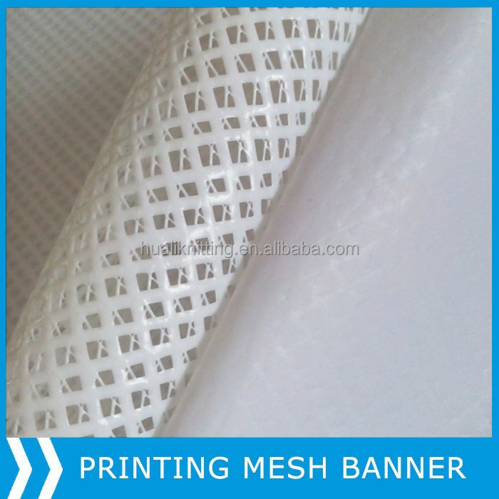 High tensile and fireproof pvc coated mesh fabric/ pvc mesh banner