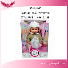 kids play simulation toy 12 inch plump face baby dolls made china with combs