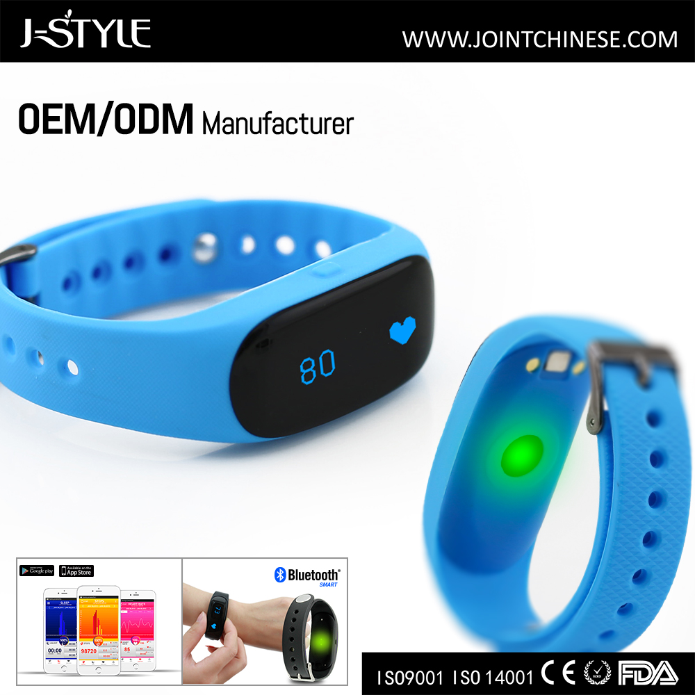 Multifunctional crane sports heart rate monitor smart pedometer watch with led light