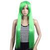 Long green christmas costume party hair wigs