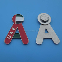 magnetic UAE national day alphabet A lapel pin