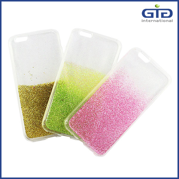 Soft TPU Case, Special Clear Amazing Glitter Case for iPhone 6