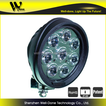 round led driving lamp with super spot, 80w pencil beam