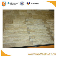 china domestic cut travertine cultural stone for scenic decorating
