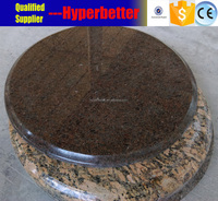 Imperial brown round granite table top for bar and cafe