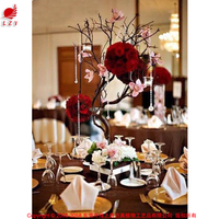 Attracting wedding tall centerpiece stands wishing tree without leaves for table decoration