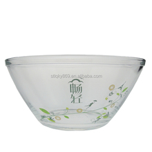 China supplier clear glass fish bowl large decorative glass bowls cheap glass bowls
