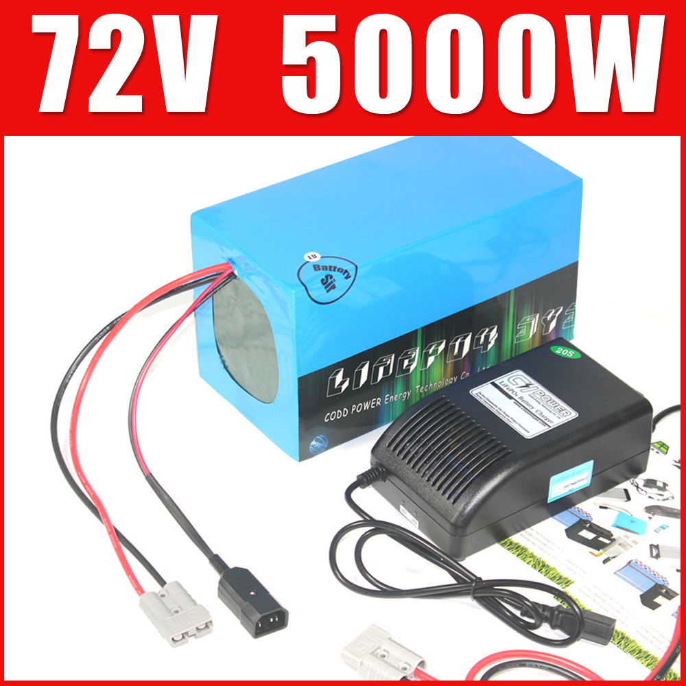 Electric Bicycle 72v lithium ion battery 20Ah 40Ah 60Ah 80Ah 100Ah electric scooter car LiFePo4 batterie pack