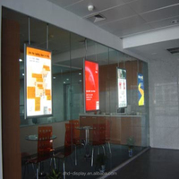 LED double sided ceiling hanging advertising aluminum poster frame light box for window display