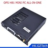 Intel OPS H81 mini pc For LGA 1150 CPU I3/I5/I7 with DC 12V 19V,WIFI, 6USB on front