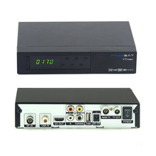 In stock MPEG-4 HD Combo Receiver Decoder DVB-T2/S2 Freesat V7 Combo Support PowerVu Biss Key V7