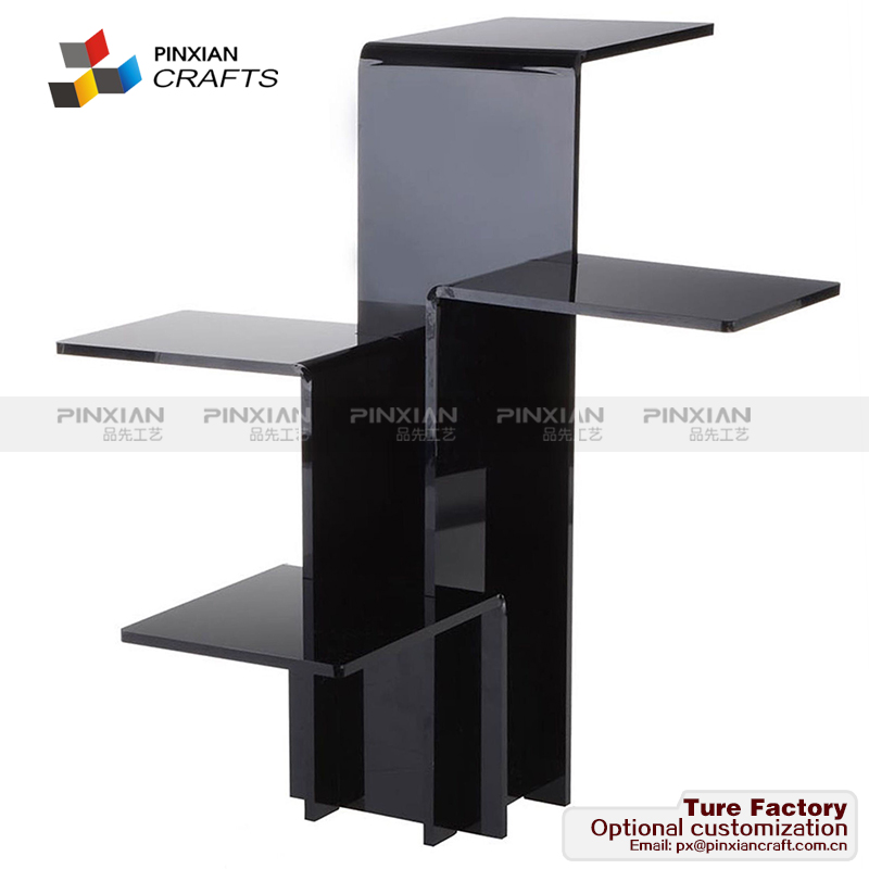 For Jewelry, 4-Tiered Riser for Tabletop Use - Set of Acrylic Pedestal Displays