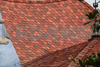 Natural Stone Coated Roofing Tiles Flat Clay Tile Colored Tile