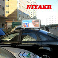 Niyakr Top Ten LED Manufacturers Wireness Double Sided Taxi Top Full Color Advertising Led Display
