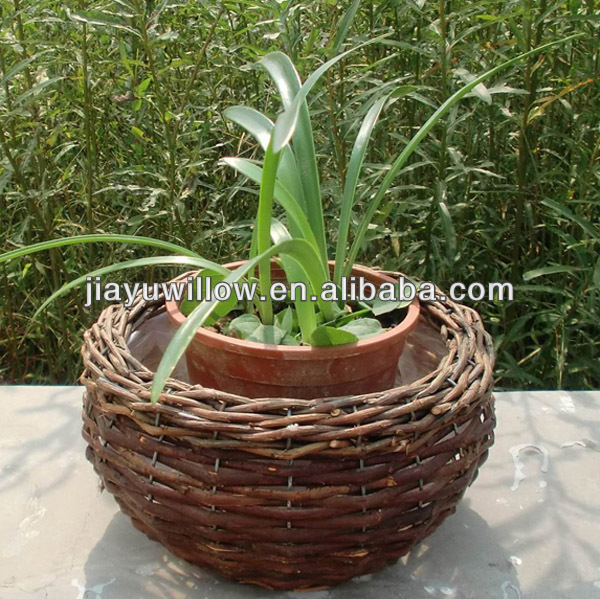Round Wicker Baskets for Plants wicker plant baskets