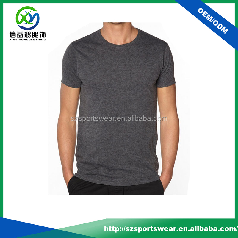Comfortable wear bamboo fabric men's round neck t shirts