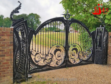 American antique wrought iron driveway gate