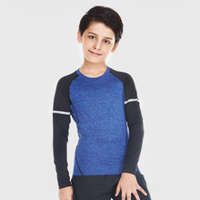 Kids Long Sleeved Workout Elastic <strong>Sports</strong> Dry Fit Compression Sportswear
