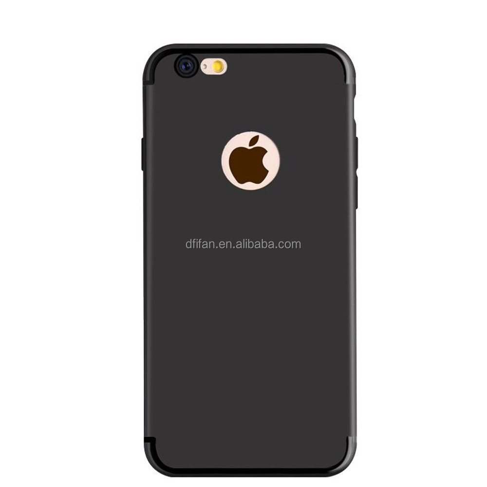 High quality Factory Price TPU Protective Back Phone Case for iPhone 7 Case Black