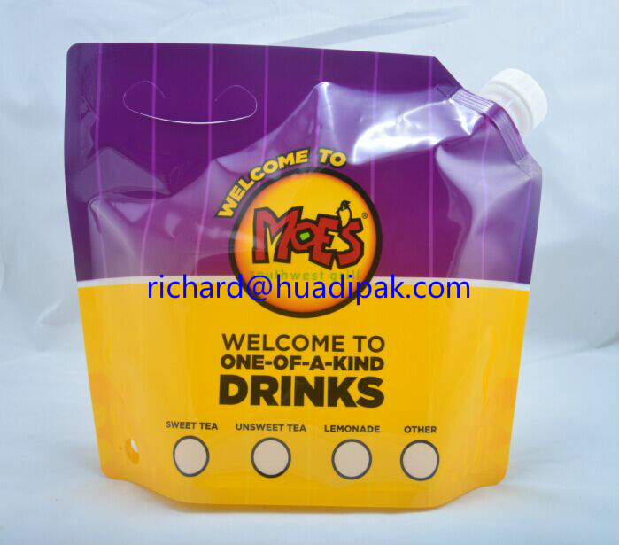 0.5 GAL Stand up Drink Pouch or Bags with Spout