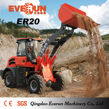 Qingdao Everun 2.0Ton Mini Front End Loader With Light Material Bucket
