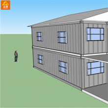 Low cost business investment Sandwich panel multifunction prefab container living house