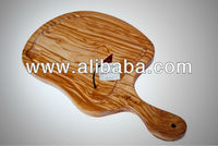 Olive wood griddle plate with milled groove