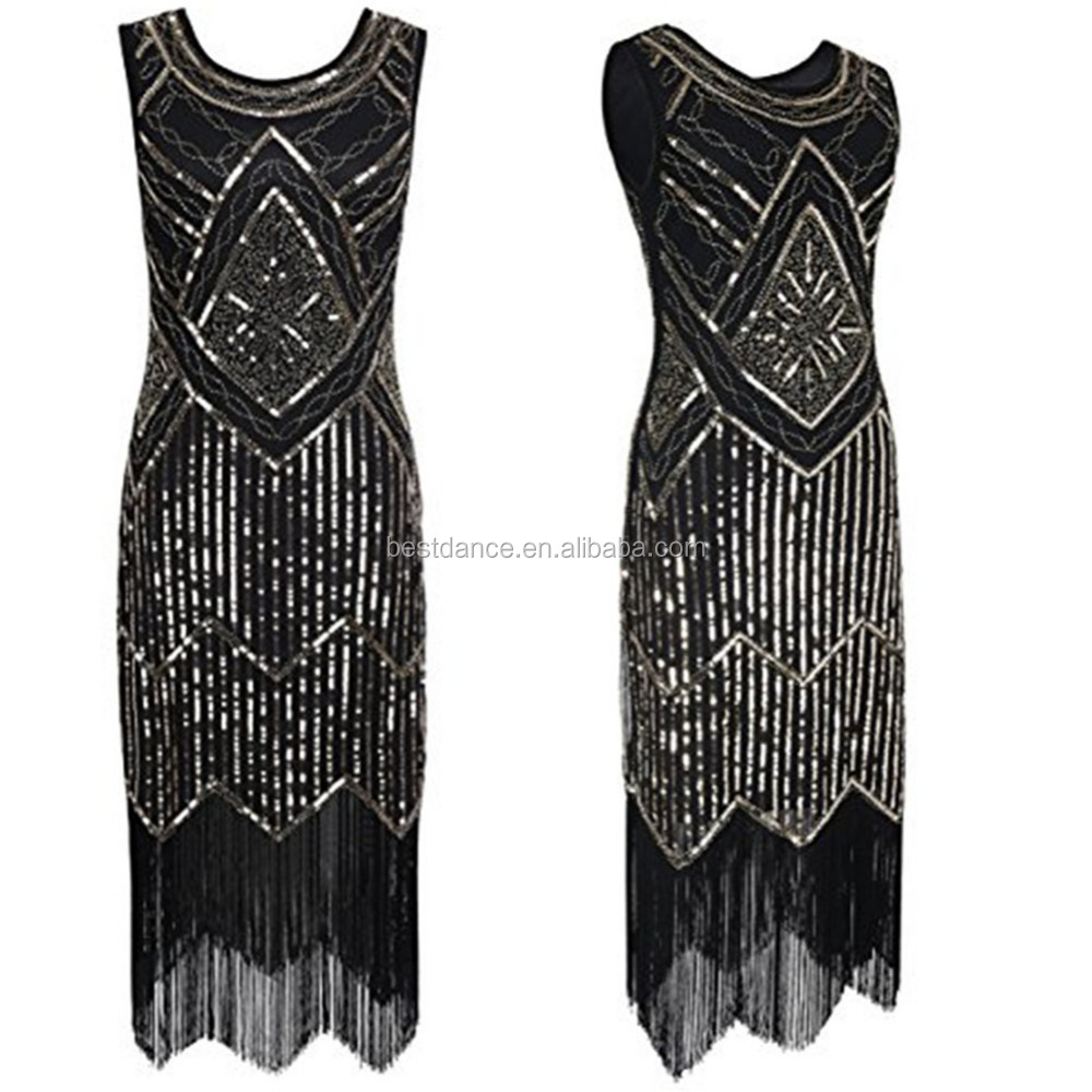 BestDance 1920s Flapper Dress Costume Gatsby Charleston Sequin Beads Fringe 20s Dress 4 <strong>20</strong>