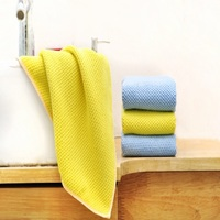 14 by 14 inch microfiber cleaning cloth absorbent kitchen towel glasses floor rags/mop